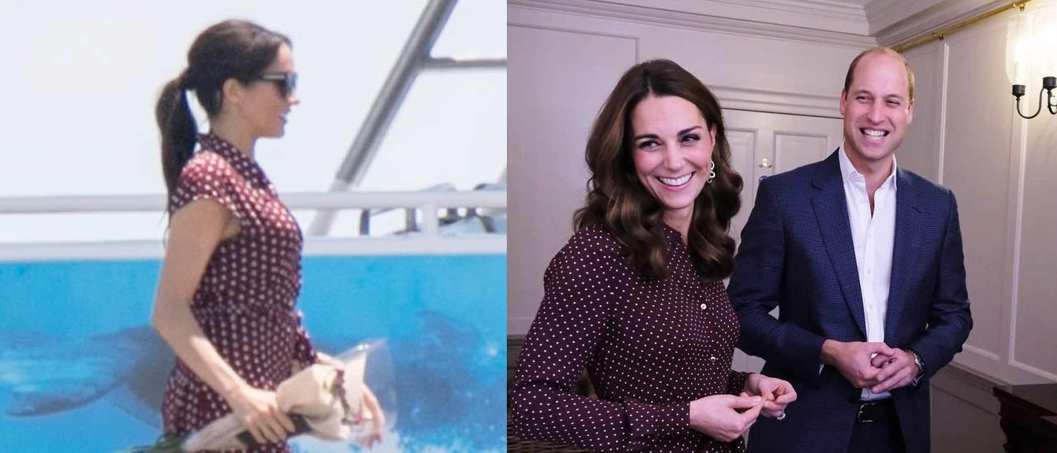 Meghan Markle y Kate Middleton, dos cuñadas y un vestido de lunares, ¿quién lo luce mejor?