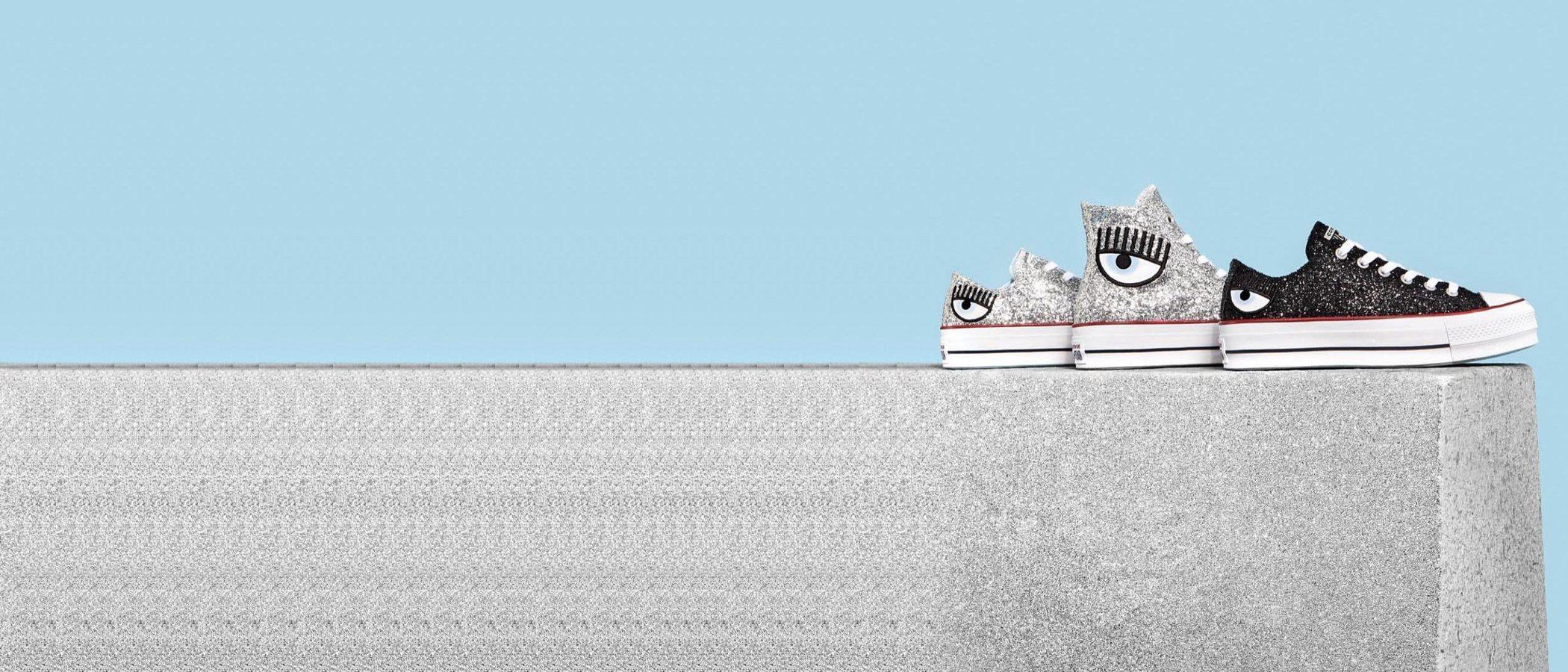 El glitter se apodera de la colección cápsula de Converse x Chiara Ferragni