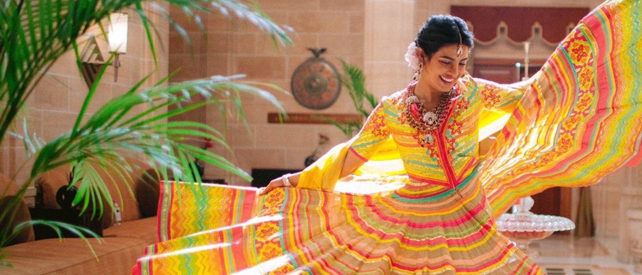 Así fueron los dos vestidos de novia de Priyanka Chopra en su boda con Nick Jonas