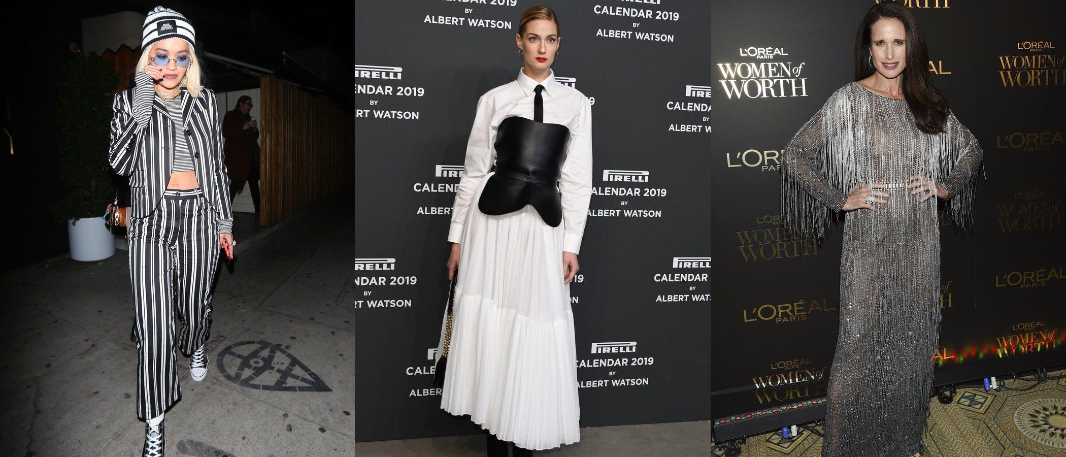 Rita Ora, Andie MacDowell y Eva Riccobono lucen los peores looks de la semana