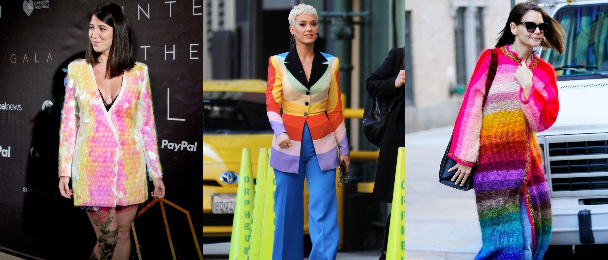 Katy Perry, Katie Holmes y Bely Basarte, las peor vestidas de la semana optan por el multicolor