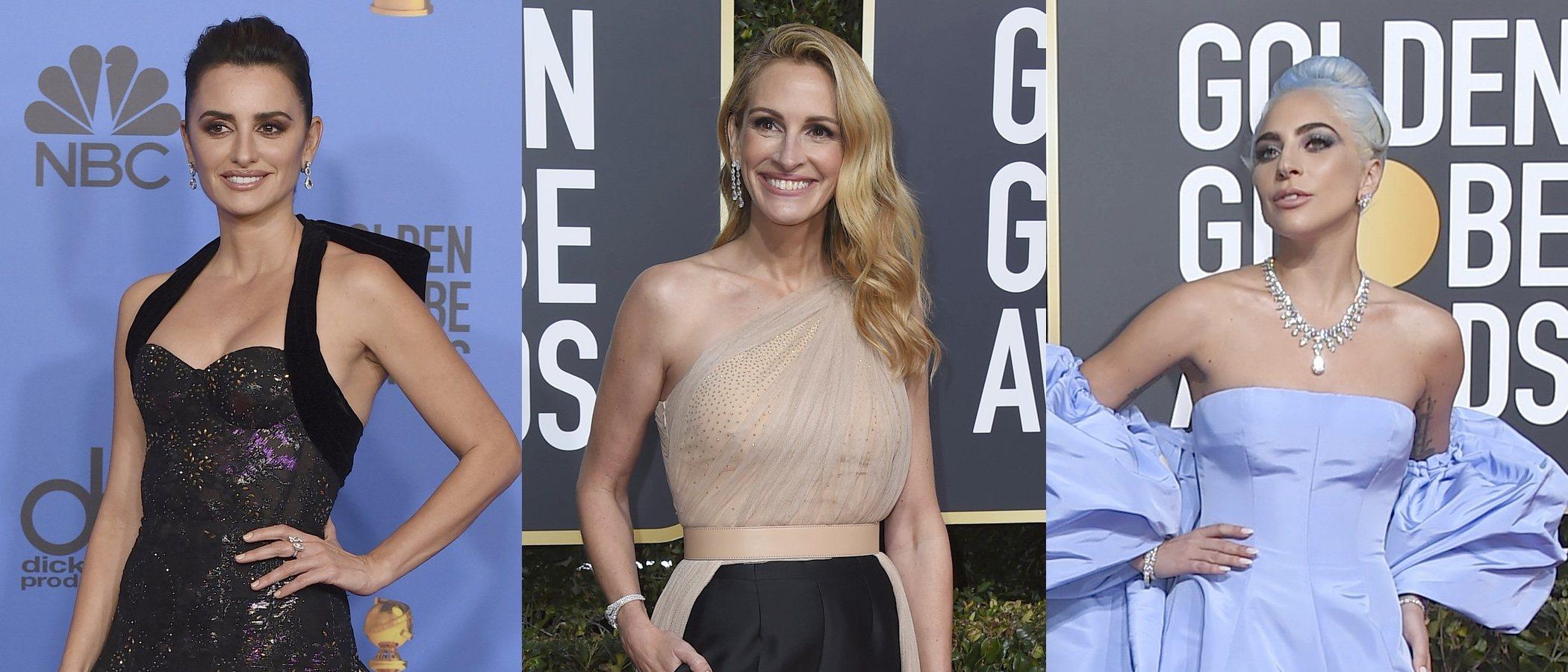 Penélope Cruz, Lady Gaga y Julia Roberts, las mejor vestidas de los Globos de Oro 2019