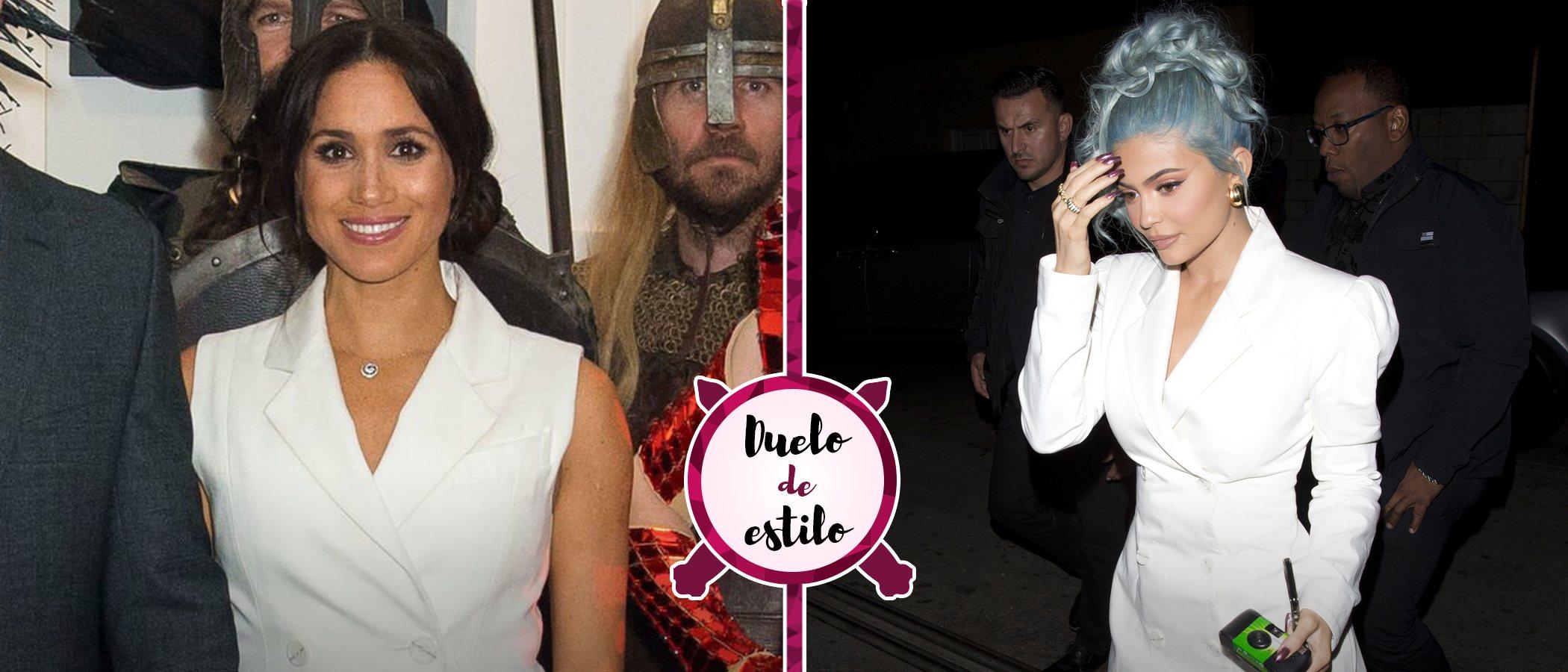Kylie Jenner y Meghan Markle: dos formas distintas de llevar un mismo vestido