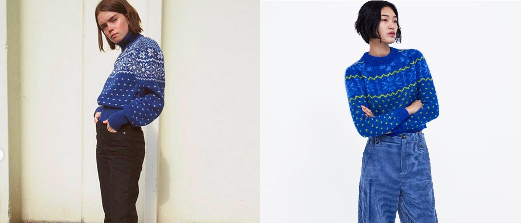Zara plagia el mítico jersey de Tory Burch que enamoró a las it-girls