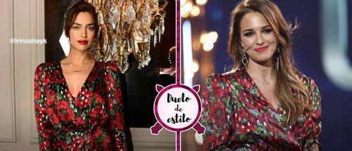 Paula Echevarría reta a Irina Shayk a un duelo de estilo con un vestido de su propia colección