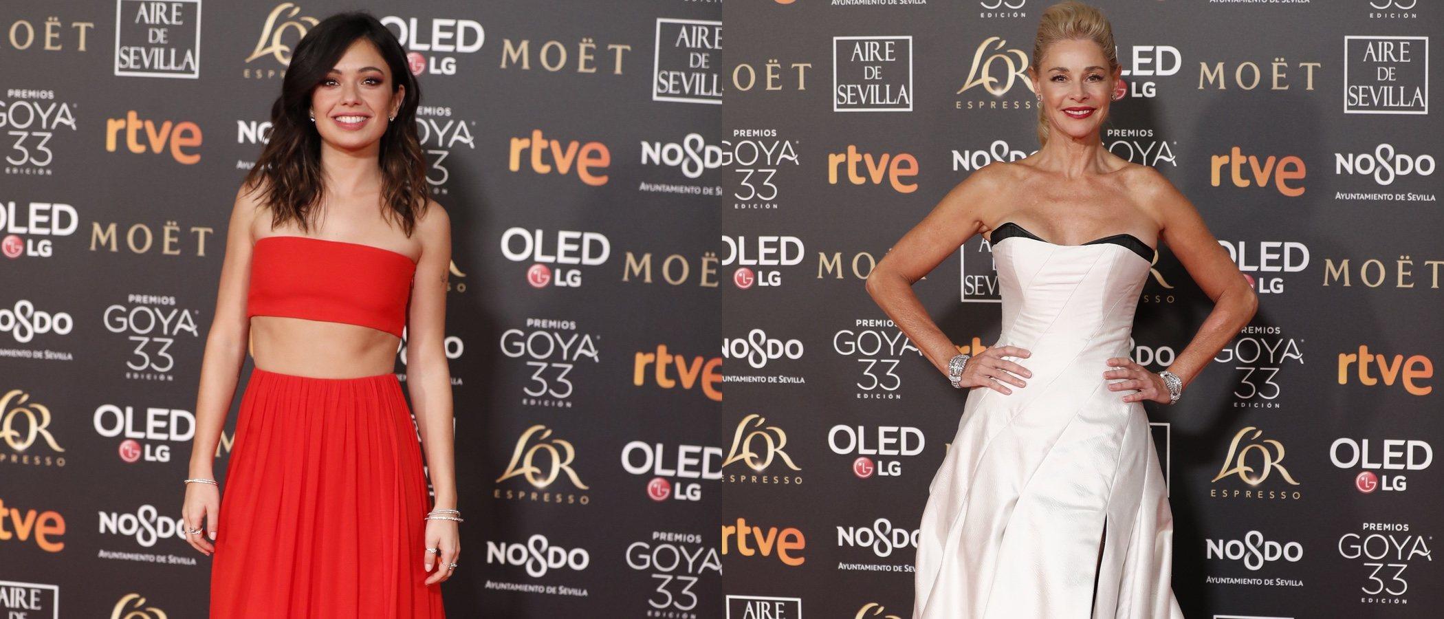 Belén Rueda y Blanca Romero, entre las mejor vestidas de los Premios Goya 2019