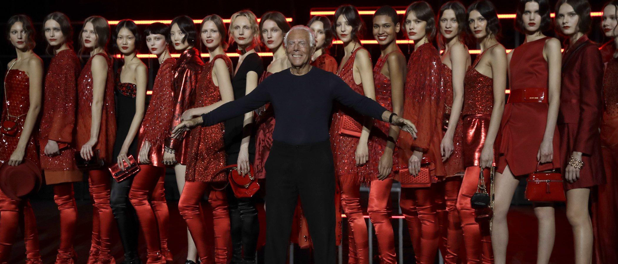 Armani vuelve a brillar por su elegancia con la colección otoño/invierno 2019/2020