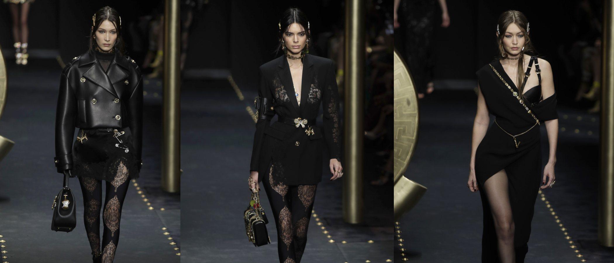 Versace homenajea su vínculo con la fotografía en su colección O/I 19/20 en Milán