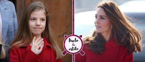 Kate Middleton y el socorrido abrigo rojo de Carolina Herrera que también tiene la Infanta Sofía