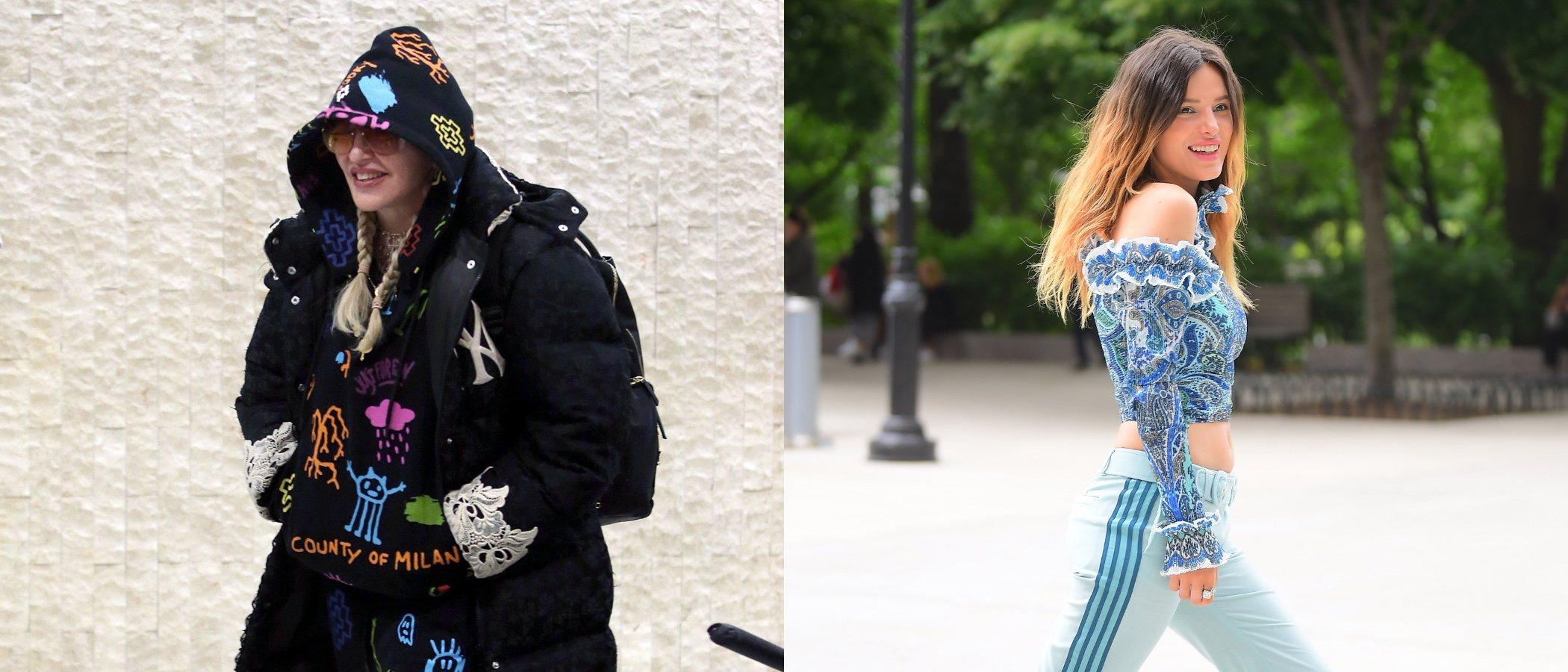 El look deportivo de Madonna y Bella Thorne, entre los peores outfits de la semana
