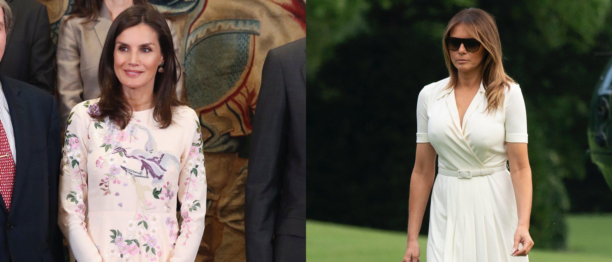 La Reina Letizia y Melania Trump encabezan el top five de mejor vestidas de la semana