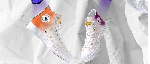 Converse y Chinatown Market presentan una colección de zapatillas que se colorean con luz ultravioleta