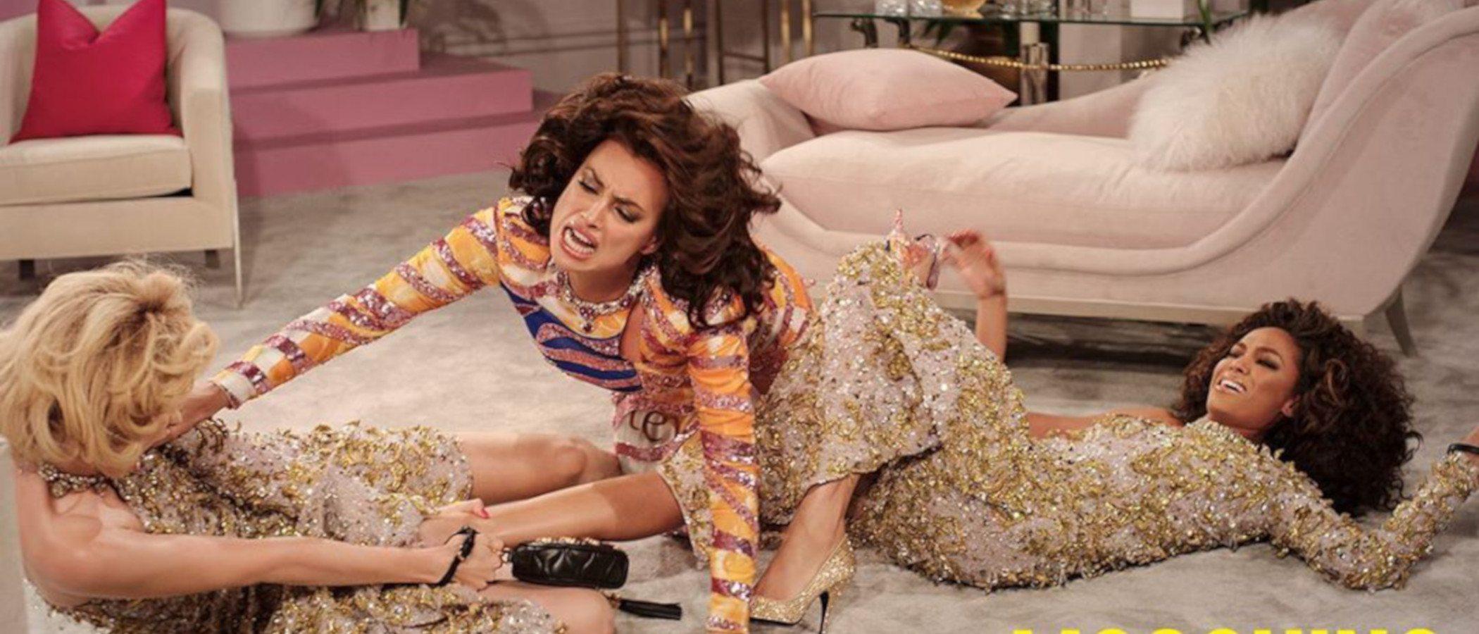 Irina Shayk, Joan Smalls y Gigi Hadid protagonizan un divertido drama en la última campaña de Moschino