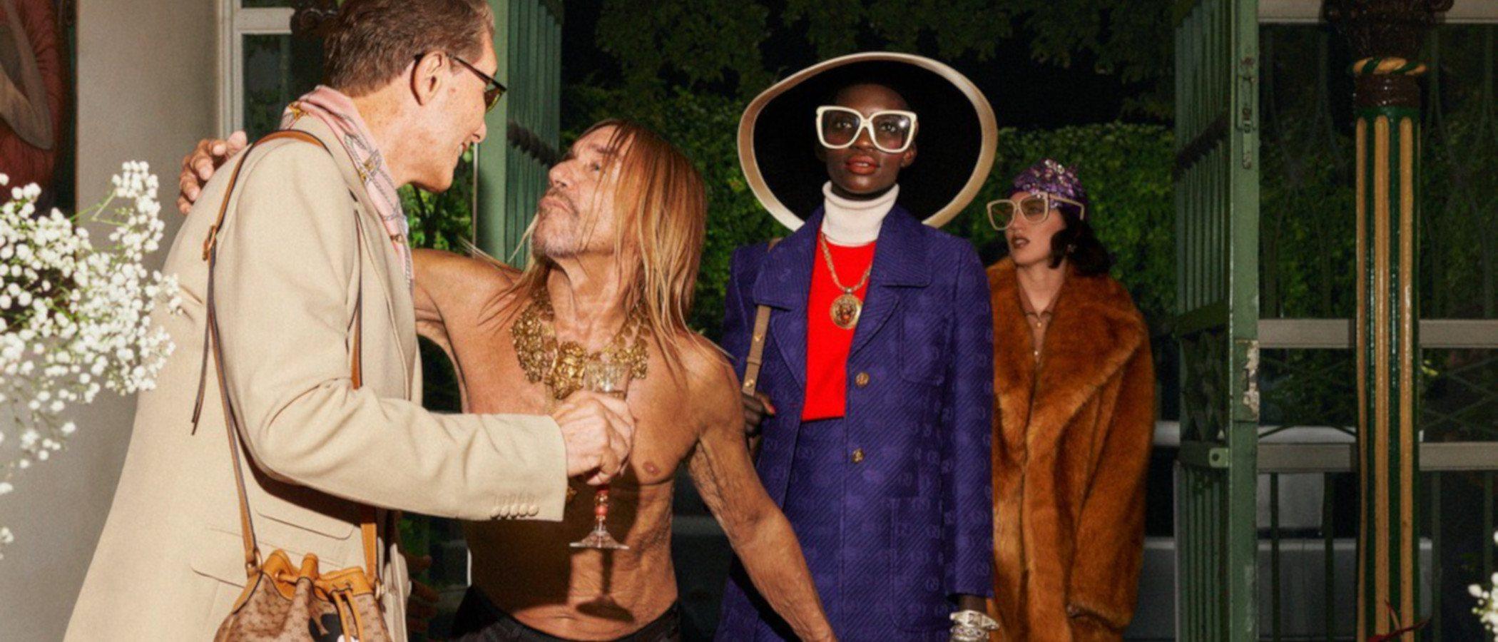 Gucci ciega con su lujo en su colección Crucero 2020 con Sienna Miller
