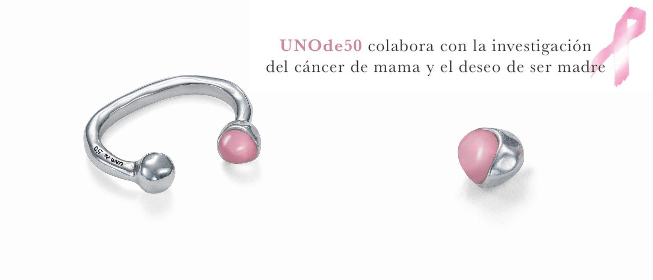 UNOde50 diseña una pulsera para apoyar a la investigación contra el cáncer de mama