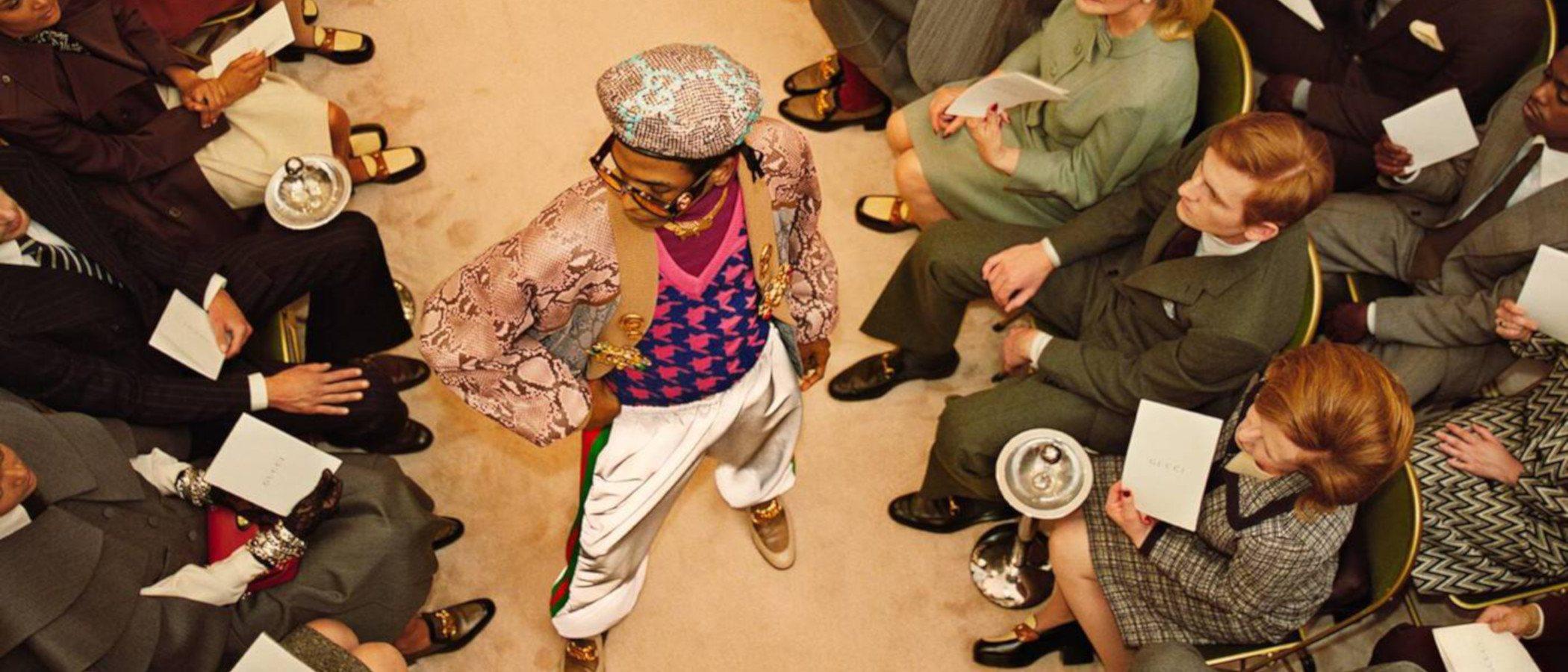El centro de atención se desplaza en la campaña prêt á porter de Gucci