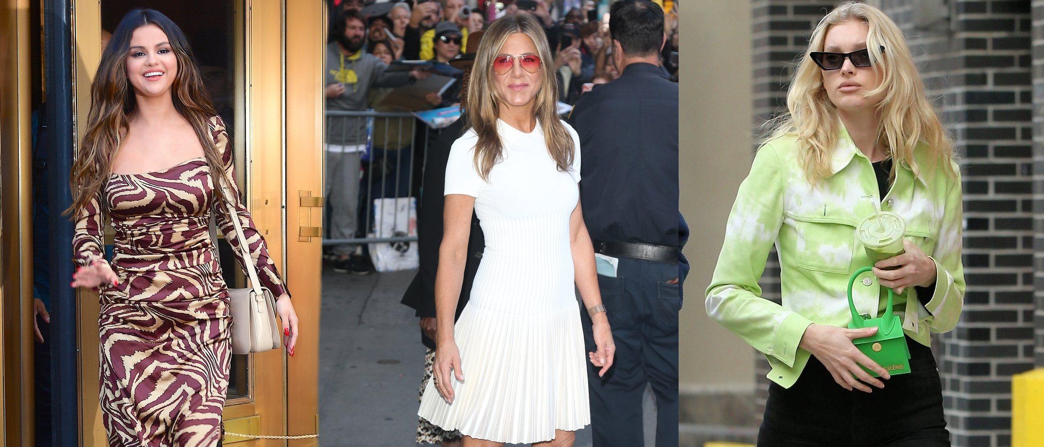Jennifer Aniston, Elsa Hosk y Selena Gomez, entre las mejor vestidas de esta semana