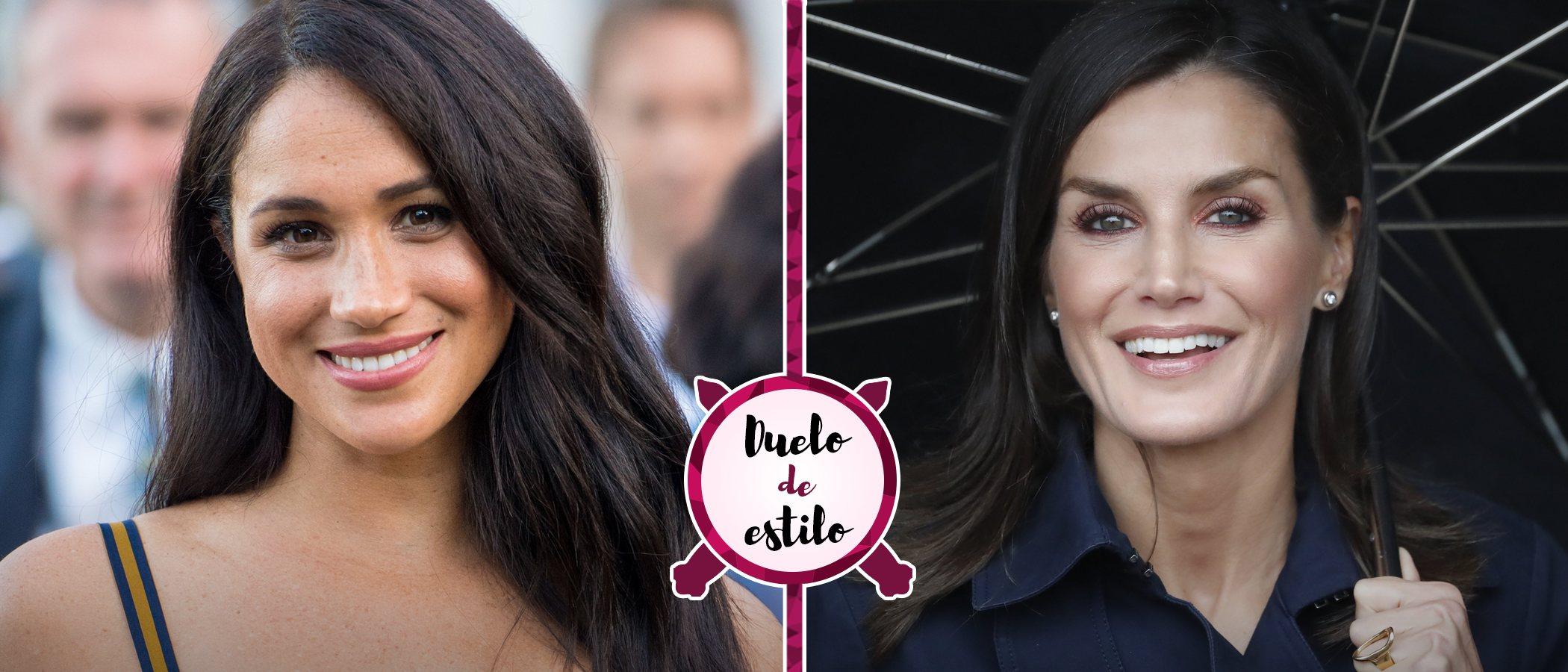 Meghan Markle y la Reina Letizia tienen la misma falda lápiz perfecta para un lookazo de oficina