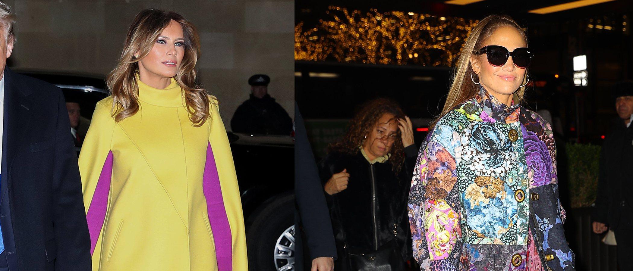 Jennifer Lopez y Melania Trump, entre los peores looks de la semana