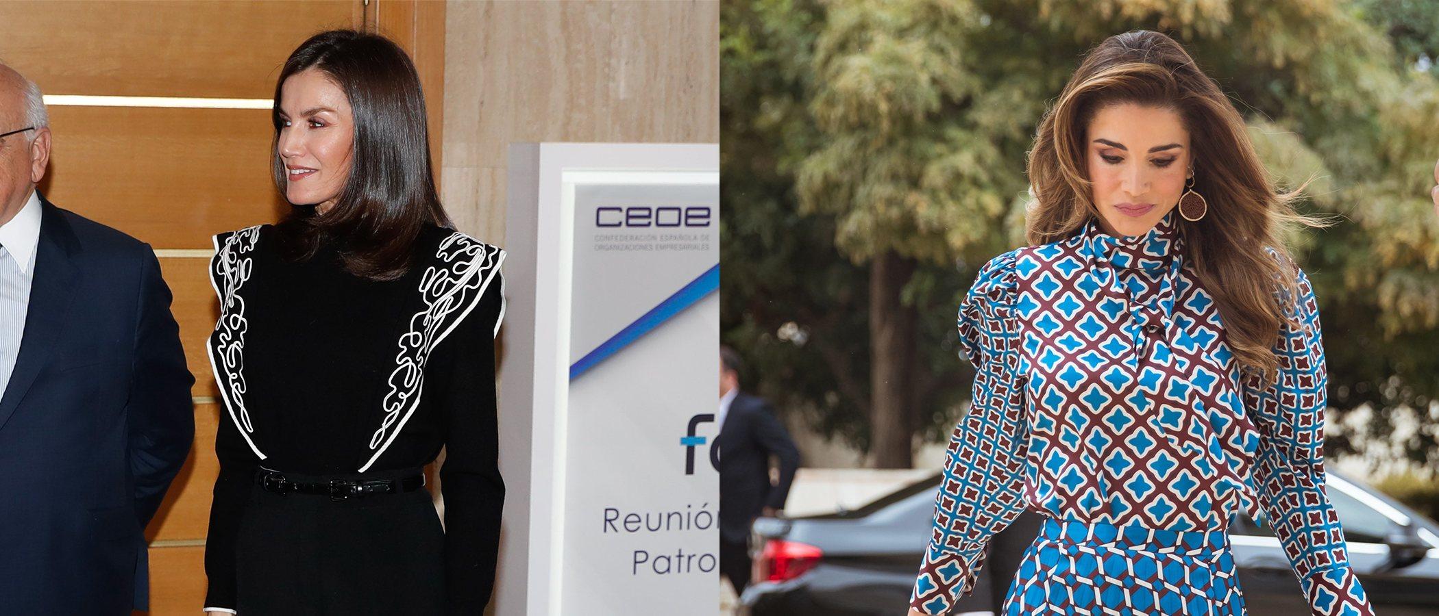 La Reina Letizia y Rania de Jordania deslumbran y se coronan con los mejores looks de la semana
