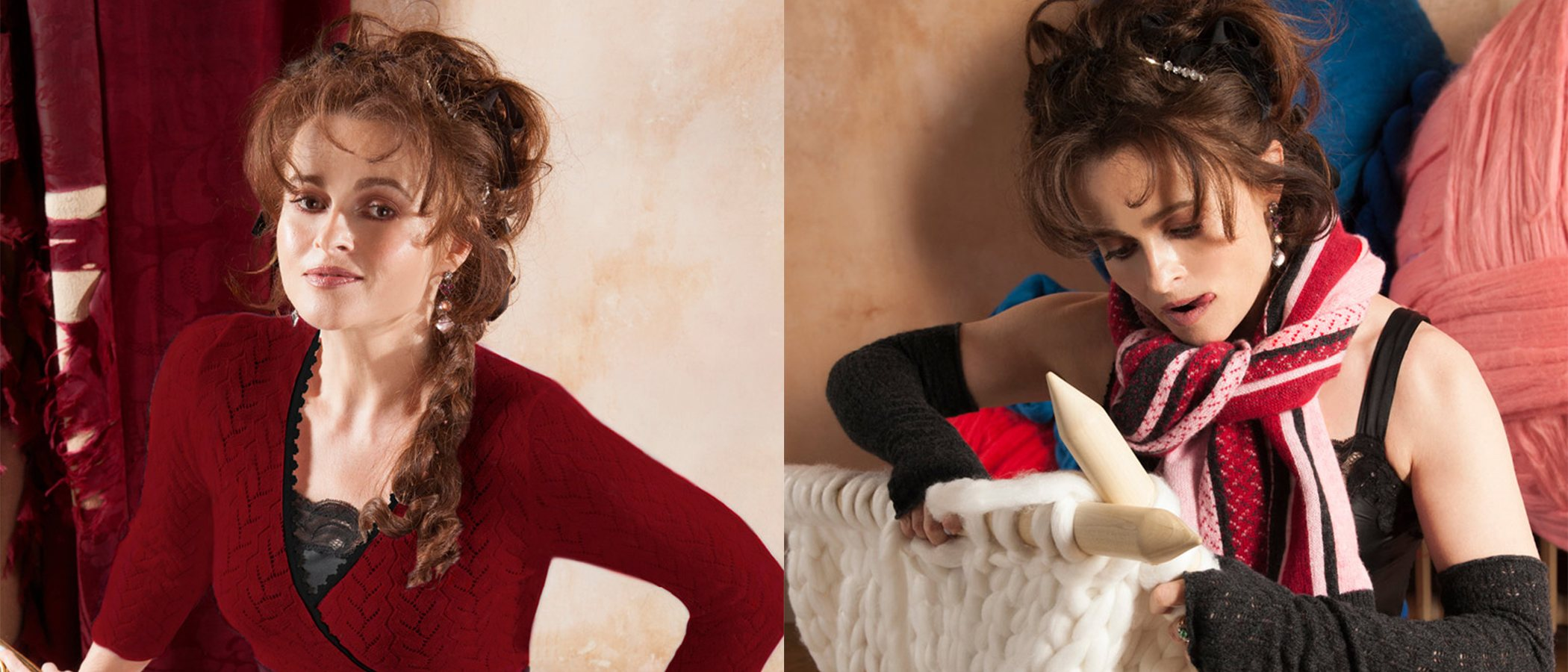 Helena Bonham Carter se lanza al diseño de bufandas por una buena causa
