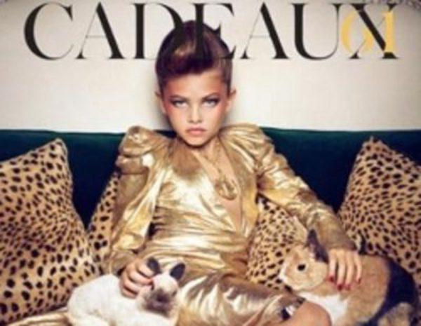 Thylane Loubry Blondeau  Niña de 10 años y seductora modelo de Vogue  Francia - Bekia Moda 8513339a10