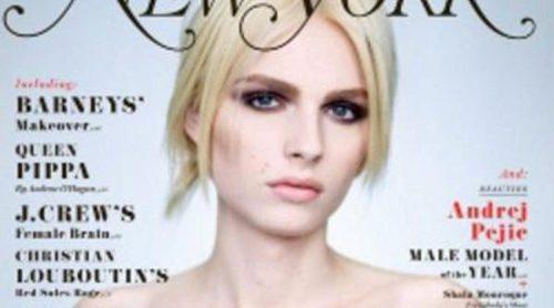 La belleza andrógina de Andrej Pejic, portada del especial de moda de la revista New York