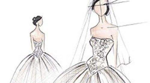 Los bocetos de los tres trajes de novia de Kim Kardashian