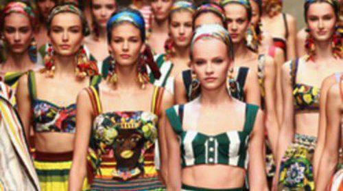 Dolce & Gabbana vuelve a inspirarse en la mujer siciliana en la Semana de la Moda de Milán primavera/verano 2013