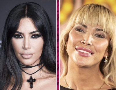 Kim Kardashian cae rendida ante el vestido de Roberto Cavalli que ya le vimos a Daniela Santiago