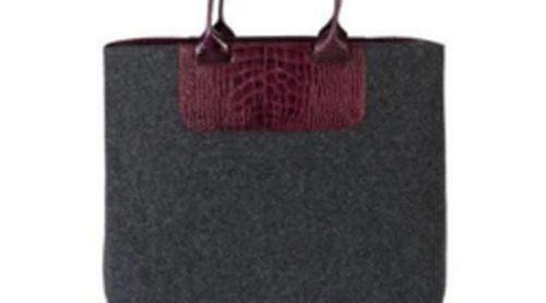 Castañer combina en sus bolsos el fieltro con la piel este invierno 2012/2013
