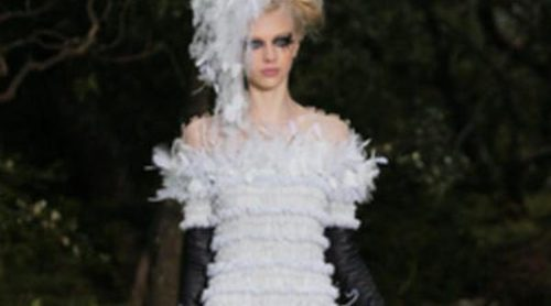 El bosque de Karl Lagerfeld para la primavera/verano 2013 de Chanel en la Semana de la Alta Costura de París