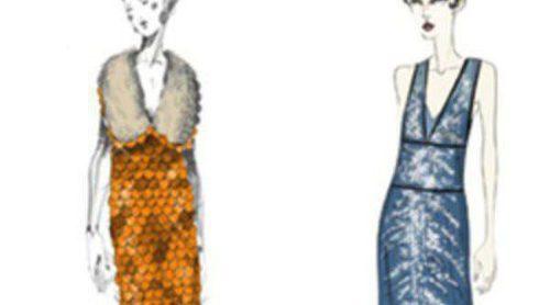Miuccia Prada muestra cuatro bocetos de sus diseños para la película 'El gran Gatsby'