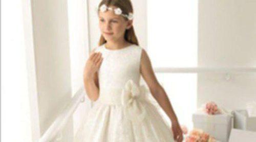 Líneas sencillas y clásicas en la primera colección de vestidos de Comunión de Rosa Clará