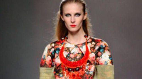 Ana Locking apuesta por el estampado floral para este otoño/invierno 2013/2014 en la Madrid Fashion Week