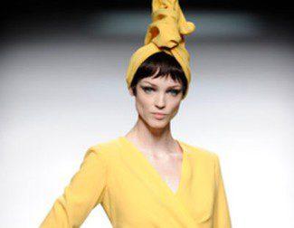 María Barros propone un otoño/invierno 2013/2014 en color amarillo en Madrid Fashion Week