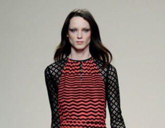 Ailanto apuesta por un otoño/invierno 2013/2014 con formas geométricas y flores invernales en Madrid Fashion Week