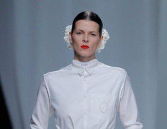 David Delfín presenta una colección otoño/invierno 2013/2014 en blanco en el Madrid Fashion Week