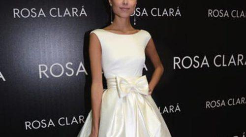 Dasha Kapustina posa vestida de novia para Rosa Clará en la Barcelona Bridal Week 2013