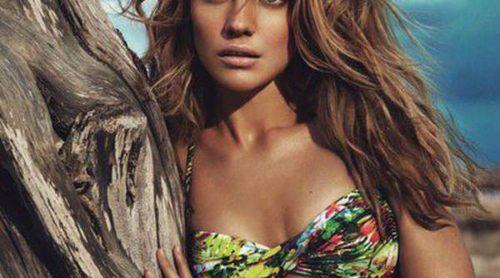 Natalia Vodianova regresa más sensual que nunca posando con la colección de baño de Etam para el verano 2013