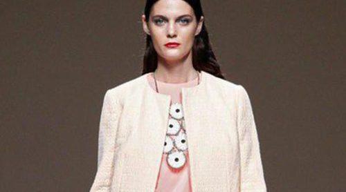 Ailanto apuesta por las prendas estampadas y plastificadas en su colección primavera/verano 2014 de Madrid Fashion Week
