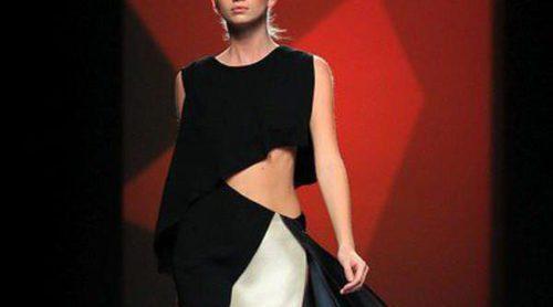 AA de Amaya Arzuaga se inspira en los murciélagos y presenta una geométrica colección primavera/verano 2014 en Madrid Fashion Week