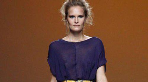 Sara Coleman apuesta por el morado y el amarillo y Moisés Nieto nos presenta a su 'Lola' en sus desfiles primavera/verano 2014 de Madrid Fashion Week