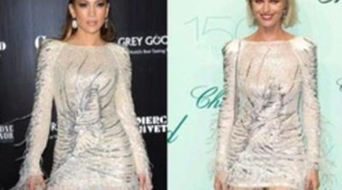 Jennifer Lopez y Eva Herzigova comparten gusto por lo glitter