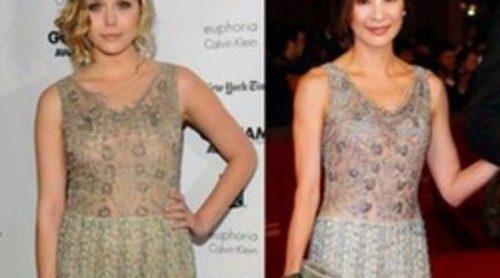 Lizzie Olsen y Michelle Yeoh aparecen con el mismo diseño de Valentino