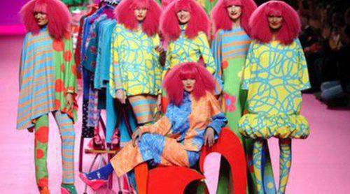 Ágatha Ruiz de la Prada hace un repaso a los estampados en su colección otoño/invierno 2014/2015 en Madrid Fashion Week