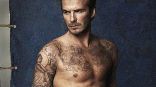David Beckham luce cuerpazo en bañador para la nueva colección de H&M