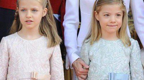 Look de la Princesa Leonor y la Infanta Sofía el día de la proclamación del Rey Felipe VI