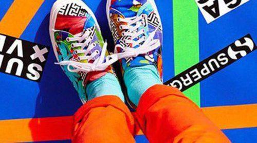 Unas nuevas 'sneakers' a todo color nacen de la mano de Versus Versace y Superga