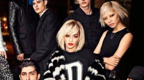 Rita Ora posa junto a un gran elenco de modelos para la nueva campaña de DKNY